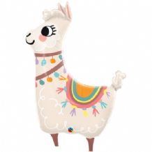 Loveable Llama Large Foil Balloon 1pc